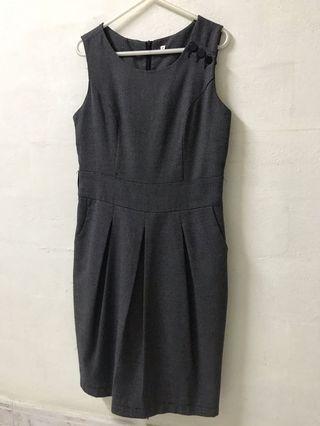 Chic Sheath Tweed Dress
