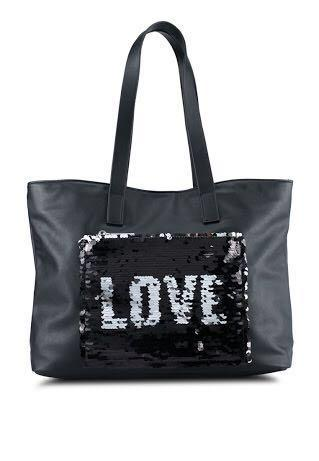 Something Borrowed Sequin Patch Tote Bag