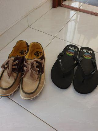 Mens Casual shoe and Monobo slippers