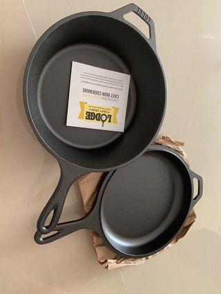 Lodge cast iron combo cooker 3.2qt