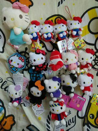 Sanrio Hello kitty Hellokitty 吉蒂貓細毛公仔吊掛飾
