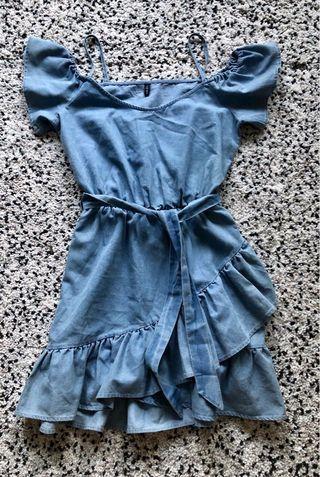 🚚 Off Shoulder Jeans Dress