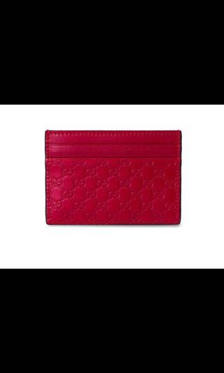100% authentic Gucci leather card holder