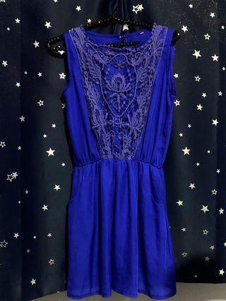 Crotchet Dress // Cobalt Blue