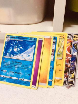 Pokemon Cards with evolving cards and two gtx cards