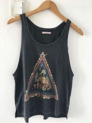 Charcoal Grey Graphic Tank