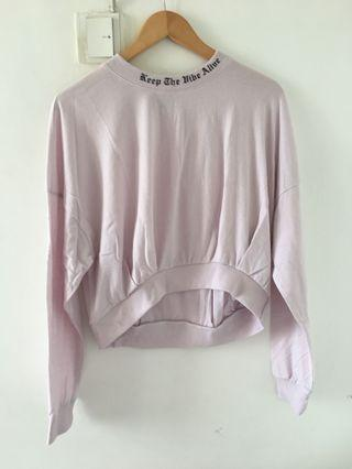 Pastel Purple Top with Neck Detailing