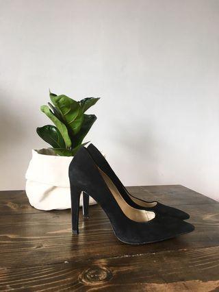 ZARA black suede stiletto shoe 9.5