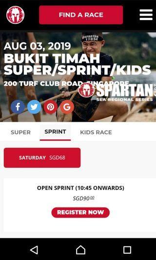🚚 Spartan sprint race pass