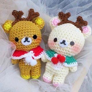 🚚 Reindeer Rilakkuma Handmade Crochet Doll
