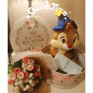 Disney Present Set - Plush Toy / Flower / Perfume