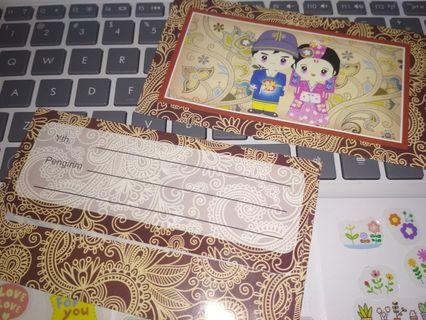 Amplop batik pernikahan korea