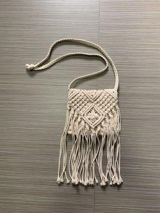 Boho crochet sling bag