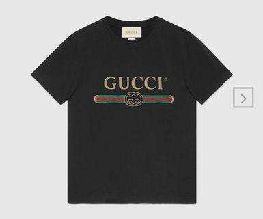 (FAST DEAL 330) Gucci Logo Tee