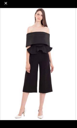 Doublewoot Off-Shoulder Black Jumpsuit