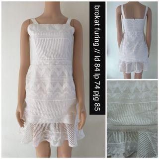 #BAPAU white midi dress