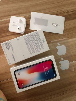 iPhone X box and earpiece