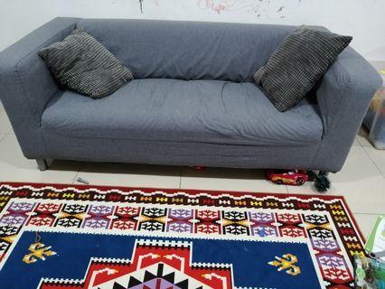 Ikea Sofa KLIPPAN + 2 pillows