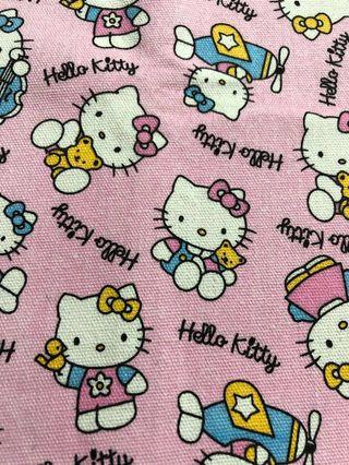 Baby pink hello kitty canvas material