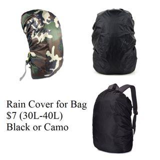 Water Proof Hiking Bag, Rain cover for Bag @7/- (Black or Camo)