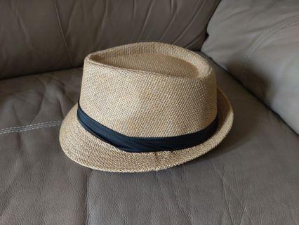 草編紳士帽