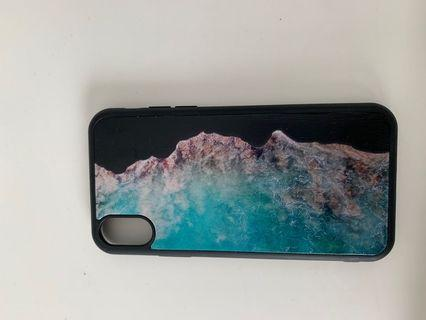 iPhone XS- Black case with detailing.