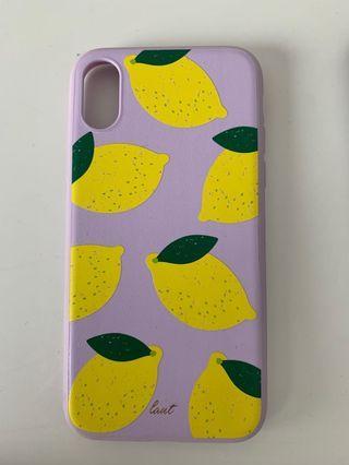 IphoneXS- purple lemon case.