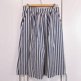 Zara 藍白條紋中長裙