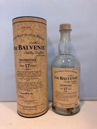 The Balvenie 17years 百富威士忌吉樽連酒盒