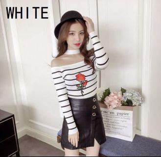 long sleeved striped rose shirt