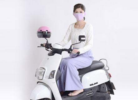 UV100 抗UV-涼感紫色 輕便一片裙-裙褲兩穿 機車腳踏車專用 防晒裙 防曬褲 涼感 透氣 舒適