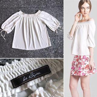 #BAPAU LE BIJOU white sabrina blouse