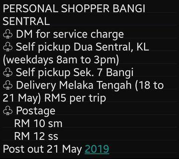 Service Personal Shopper Bangi Sentral