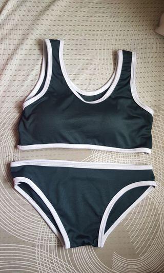Hunter Green Two Piece Bikini