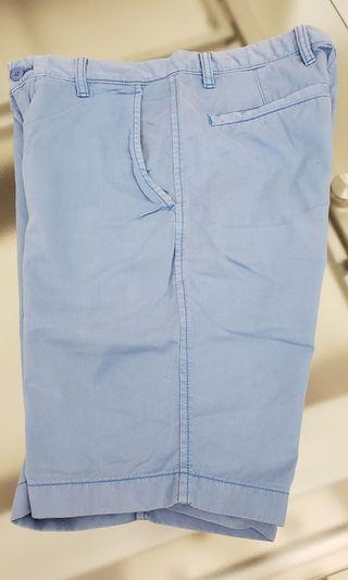 UNIQLO Shorts洗水粉藍短褲
