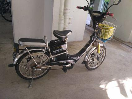 E-bicycle to let go