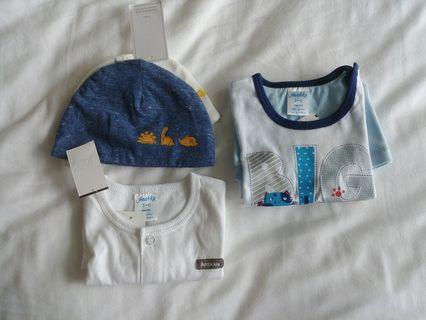 🚚 BNWT Hat, top and romper (3-6 months)
