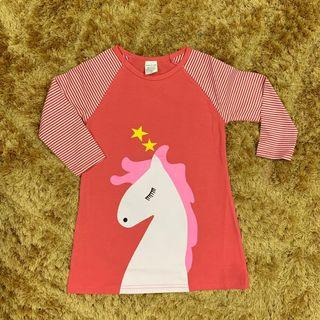 Girl A cut dress unicorn cat
