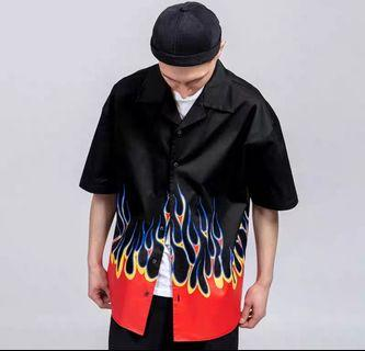 Flames oversized shirt