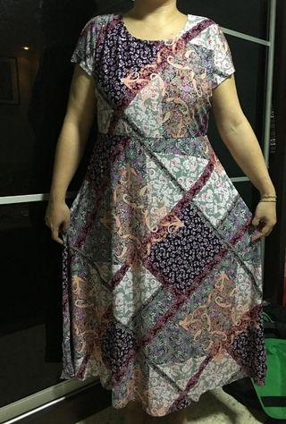 Long Dress in floral print - plus size