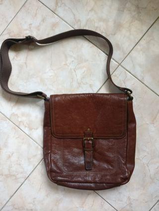 Leather Messenger Bag Mark & Spencer Vintage Inspired, not Fossil, Visvim, Filson, Louis Vuitton