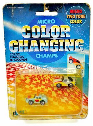 """Vintage 90s """"Micro Color Changing Champs"""" Mini Cars"""