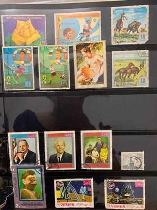 Vintage Stamps Collection