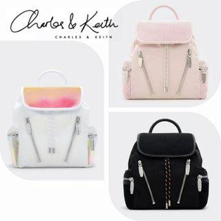AUTHENTIC CHARLES & KEITH MESH SHOULDER BACKPACK CK2-20150694