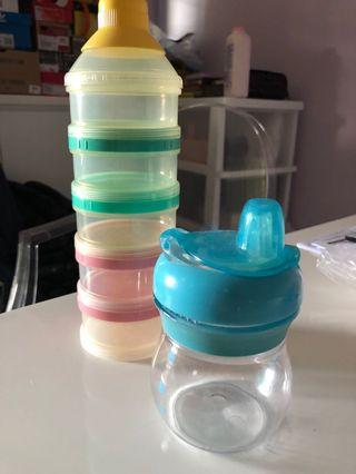 🚚 To Bless - milk powder container and OXO sippy cup