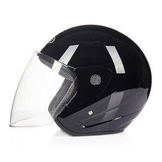 New DFG 602 Gloss Black Half Face Motorcycle Helmet
