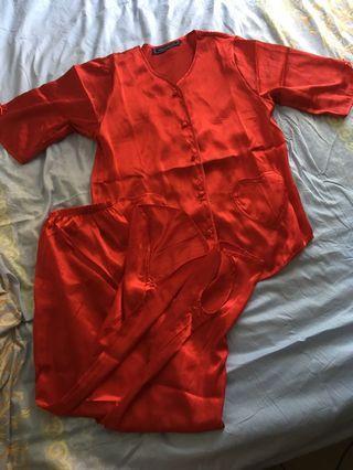 結婚裙掛打底 紅色內衣  紅色睡衣 婚嫁 新娘內衣 新娘睡衣