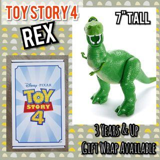 """TOY STORY 4 REX 7"""" Figurine Toy (Shipped from USA)"""