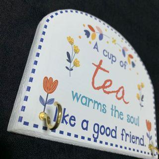 Last piece - Cup of tea Key/Towel  Hanger wall decor