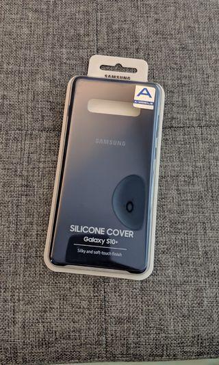 Samsung S10+ silicon cover (blue)